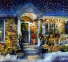 Christmas - Dressed up for the holidays - painted by Mike  Savad