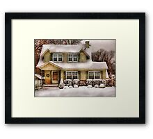 Christmas - One cold winter's morning - painted Framed Print
