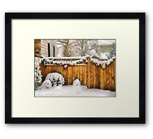 Christmas - The Decorations are out - painted Framed Print