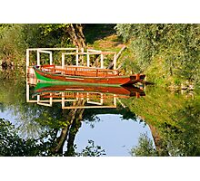 Rowboat on the river Photographic Print