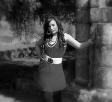 Beauty in Ancient stones 5  Black & white by Lawson Clout