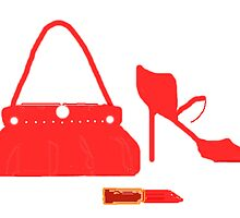 RED BAG SHOES AND LIPPY   by Shoshonan