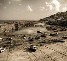 Mousehole boats by Simon Marsden