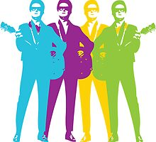 Retro Orbison Guitar Print by planespotting
