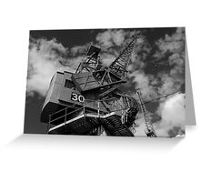 Dockside crane, Bristol waterfront Greeting Card