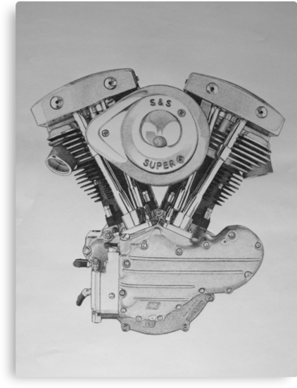 S&S Shovelhead Engine by Scott Ritchie