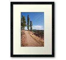 Dirty road Framed Print