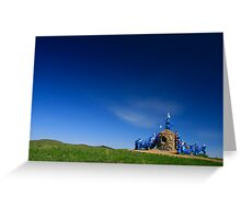 Ovoo, Blue on Blue, Mongolia Greeting Card