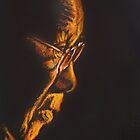 The Dalai Lama in Profile by christo wolmarans