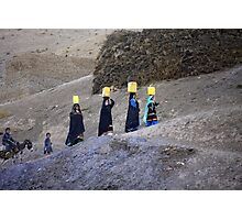 The carriers of water (Afghanistan) Photographic Print