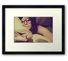 in the darkness 'round the sun, there's light behind your eyes Framed Print