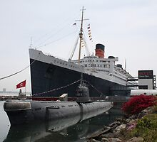 R.M.S Queen Mary and Russian Sub... by EvaMarie Cannon
