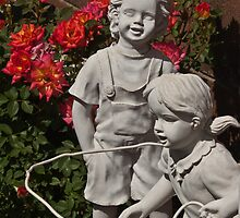 Skipping Rope Amid the Roses by Linda Gregory