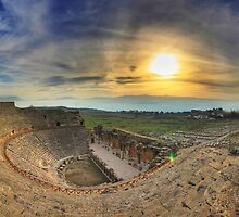 ancient theater in Hierapolis / Pamukkale by panoramer