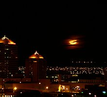 Albuquerque Harvest Moon by Derek Lowe