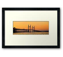 Severn Bridge at Sunset Framed Print