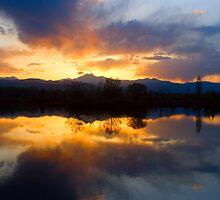 Colorado Sunset Reflection by Bo Insogna
