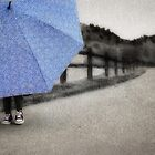 Who doesn't love a blue umbrella... by Elizabeth Weitz