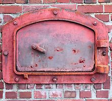 Red Incinerator Door by Stacey Lynn Payne