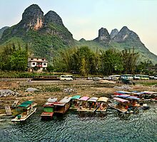 Li River, Guilin in China by Jennifer Bailey