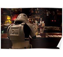 Stormtrooper and a Bar Poster
