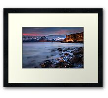 Elgol Sunset, Loch Scavaig, The Isle of Skye., Western Isles, Scotland. Framed Print