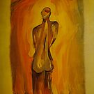 A Contemplative Figure by Martha Andreatos