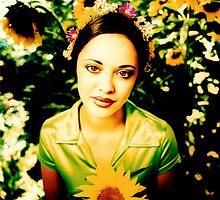 Marisa Ramirez & Sunflowers by YoPedro