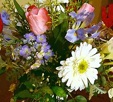 """""""A Spring Bouquet Of Silk Flowers"""" by franticflagwave"""