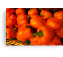 Peppers Plump and Pretty Canvas Print