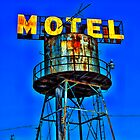Avalon Motel Water Tank Sign by Robert Howington