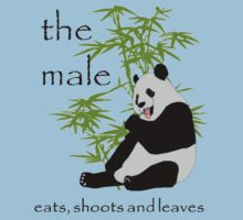 The male eats, shoots and leaves T-Shirt