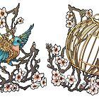 Clockwork Bluebird Tattoo by Kiri Moth