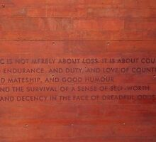 A Nation's Credo, Etched On A Simple Wall by David McMahon