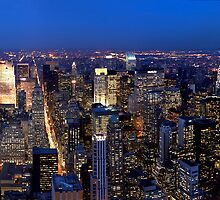 New York Skyline at Night by oliver9523