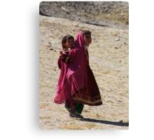 Sisters (Afghanistan) Canvas Print