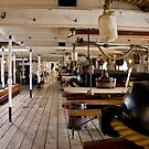 Along the Gun deck, HMS Warrior by Mark Chapman