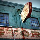 Teal Blue Building Macon by Patricia Cleveland