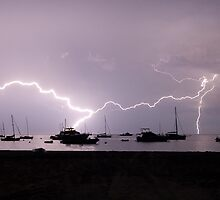 Lightning Strikes - Geographe Bay, WA by Dan Bish