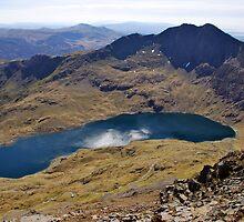 Snowdon, Llyn Llydaw and Y Lliwedd from Garnedd Ugain by John Williams