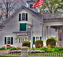 New England Schoolhouse by Monica M. Scanlan