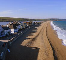 Devon: Shadows on the Beach at Torcross by Rob Parsons