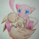 The Mew and The Eevee by Windcrest