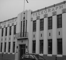 Napier Daily Telegraph Building - Black and White by oliverjridgill
