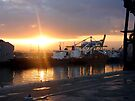 Sunrise at the Dock in Casablanca by Lucinda Walter