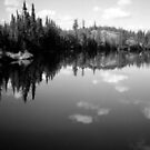 Lake Landscape in B&W by MaeBelle