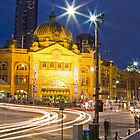 Flinders Street at Night by MSpro75