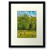 Americana - Let's go fly a kite Framed Print
