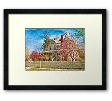 House - A Victorian Springtime Framed Print