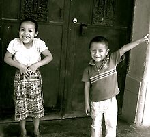 Mayan Siblings in Flores by Valerie Rosen